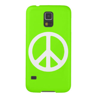 Chartreuse and White Peace Sign Case For Galaxy S5