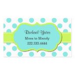 Chartreuse & Aquamarine Mommy Play Date Card Business Card Template