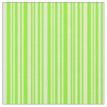 [ Thumbnail: Chartreuse & Beige Lined Pattern Fabric ]
