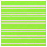 [ Thumbnail: Chartreuse & Beige Lines/Stripes Pattern Fabric ]