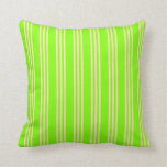 [ Thumbnail: Chartreuse & Beige Lines/Stripes Pattern Pillow ]