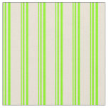 [ Thumbnail: Chartreuse & Bisque Colored Lined Pattern Fabric ]