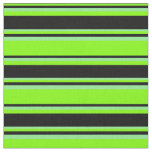 [ Thumbnail: Chartreuse, Black, and Light Green Colored Lines Fabric ]