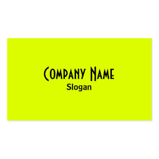 Chartreuse & Black Business Card