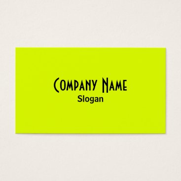Professional Business Chartreuse & Black Business Card