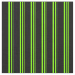 [ Thumbnail: Chartreuse & Black Colored Lines Fabric ]