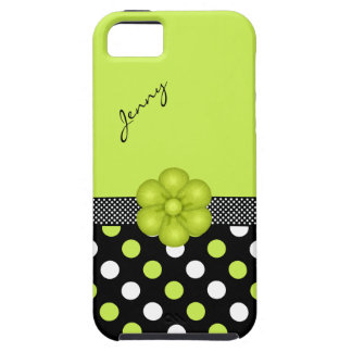 Chartreuse & Black Girly iPhone 5 Case