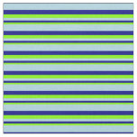 [ Thumbnail: Chartreuse, Blue, and Light Blue Pattern Fabric ]