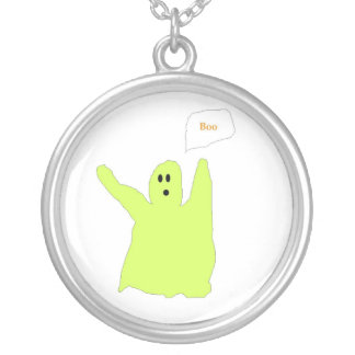 Chartreuse Boo Ghostie necklace