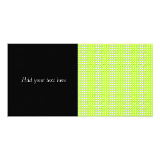 Chartreuse Bright Lime Green Pattern - Diamonds Card