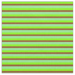 [ Thumbnail: Chartreuse, Brown, and Light Green Stripes Fabric ]