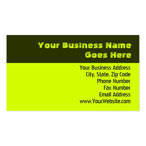 Chartreuse Business Card