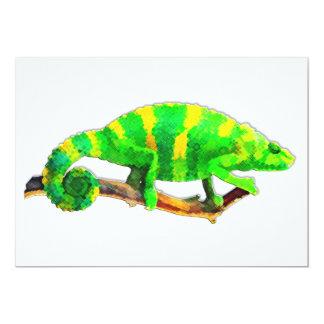 Chartreuse Chameleon Card