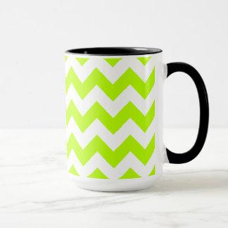 Chartreuse Chevron; Chalkboard look Mug