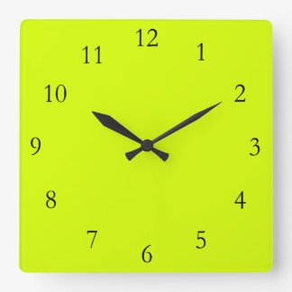 Chartreuse Square Wall Clock