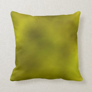 Chartreuse Clouds Throw Pillow