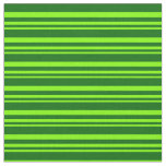 [ Thumbnail: Chartreuse & Dark Green Colored Pattern Fabric ]