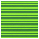 [ Thumbnail: Chartreuse & Dark Green Striped/Lined Pattern Fabric ]