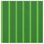 [ Thumbnail: Chartreuse & Dark Green Stripes/Lines Pattern Fabric ]