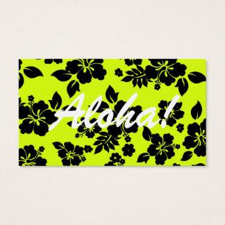 Chartreuse Dark Hawaiian Business Card