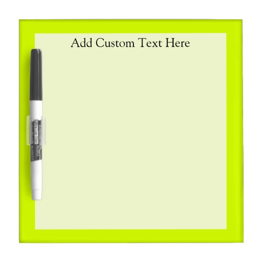 Chartreuse Dry Erase Board