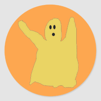 Chartreuse ghostie stickers