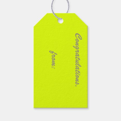 Chartreuse Gift Tags