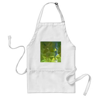 Chartreuse Green Abstract Low Polygon Background Adult Apron