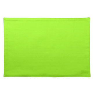 Chartreuse Green Background on a Placemat
