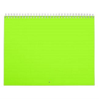 Chartreuse Green Backgrounds on a Calendar