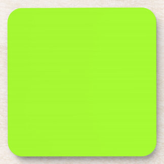Chartreuse  Green Cork Coaster