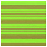 [ Thumbnail: Chartreuse & Green Lines Fabric ]