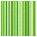 [ Thumbnail: Chartreuse, Green & Tan Colored Lines Fabric ]