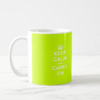 Chartreuse guarde la calma y continúe tazas
