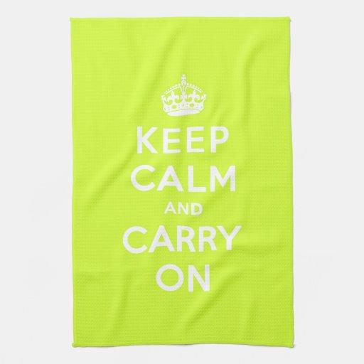 Chartreuse guarde la calma y continúe toallas