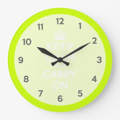 Keep Calm and Carry On Passionate Purple Large Clock | Zazzle.com