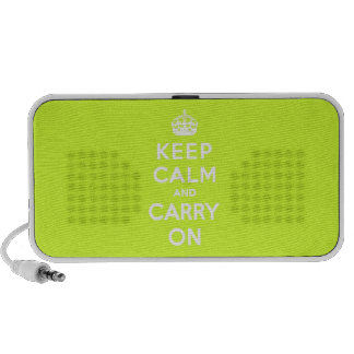 Chartreuse Keep Calm and Carry On Speaker