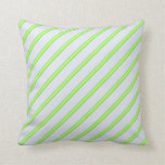 [ Thumbnail: Chartreuse & Lavender Lines Throw Pillow ]