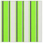 [ Thumbnail: Chartreuse, Light Cyan & Black Stripes Fabric ]
