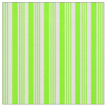 [ Thumbnail: Chartreuse & Light Cyan Colored Stripes Fabric ]