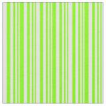 [ Thumbnail: Chartreuse & Light Cyan Striped Pattern Fabric ]