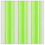[ Thumbnail: Chartreuse & Light Cyan Stripes Fabric ]