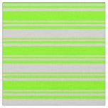 [ Thumbnail: Chartreuse & Light Gray Pattern Fabric ]