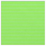 [ Thumbnail: Chartreuse & Light Green Colored Striped Pattern Fabric ]