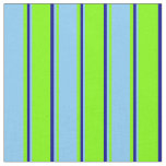 [ Thumbnail: Chartreuse, Light Sky Blue, and Dark Blue Colored Fabric ]