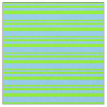[ Thumbnail: Chartreuse & Light Sky Blue Colored Lines Fabric ]