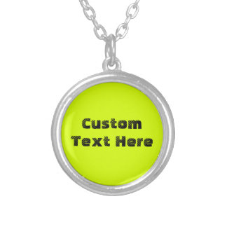 Chartreuse Round Pendant Necklace
