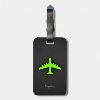 Chartreuse, Neon Green Airplane Bag Tag