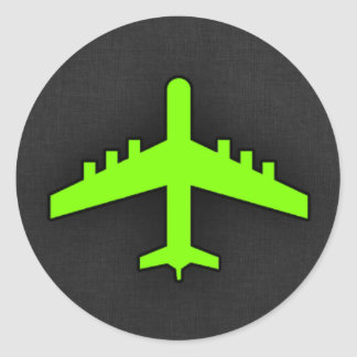 Chartreuse, Neon Green Airplane Stickers