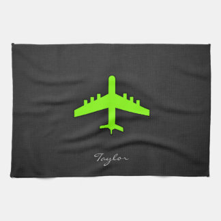 Chartreuse, Neon Green Airplane Towel
